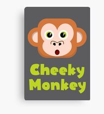 Cheeky Monkey - Cute Vector Canvas Print
