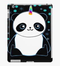 Cute Pandacorn in the Snow  iPad Case/Skin