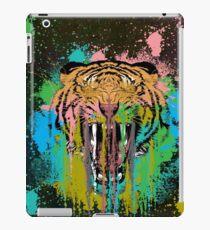 Trippy Drippy Tiger Face T-Shirt iPad Case/Skin