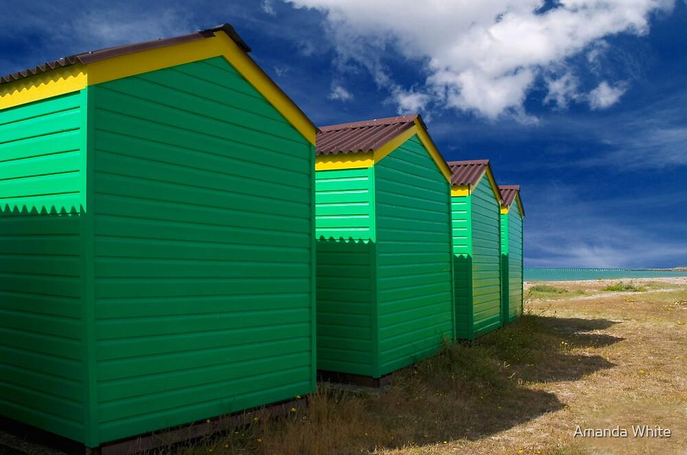 Beach Hut Series 5 by Amanda White