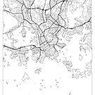 Helsinki Karte Minimal von HubertRoguski