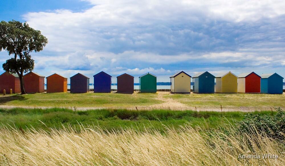 Beach Huts Series 7 by Amanda White