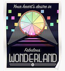 Wonderland Travel Poster Poster