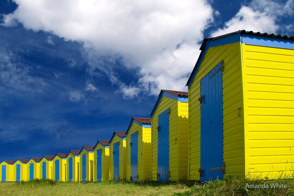 Beach Hut Series 12 by Amanda White