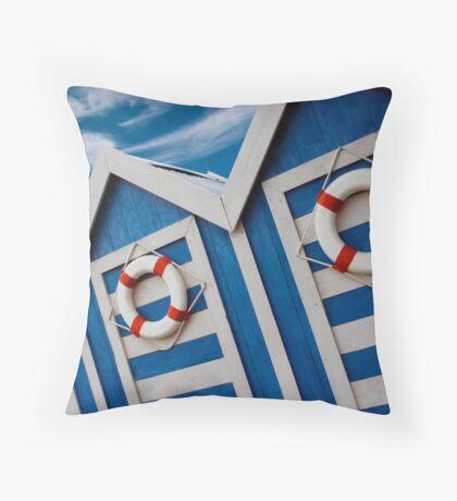Beach Hut Series 13 Throw Pillow