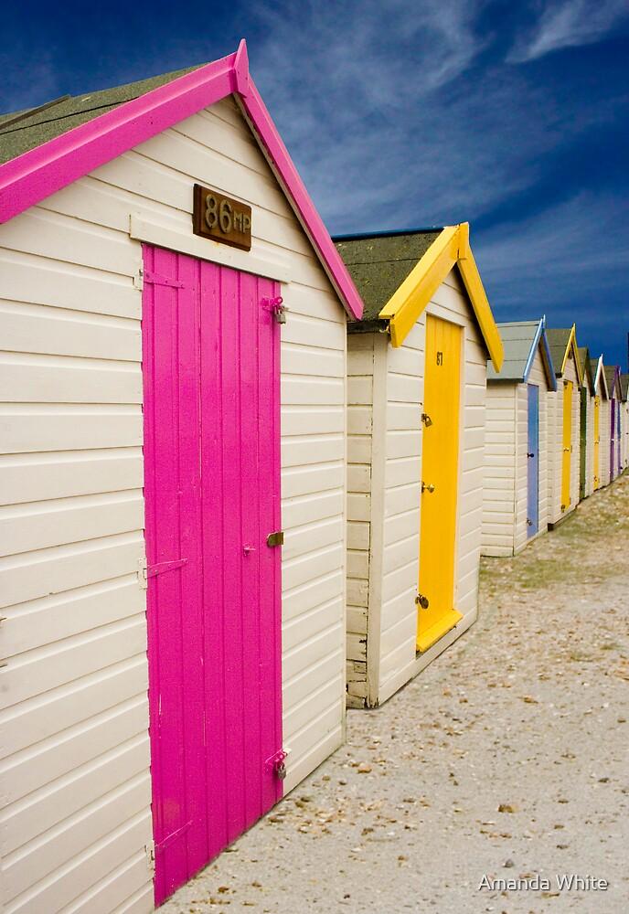 Beach Hut Series 17 by Amanda White