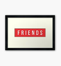 Friends red text Framed Print