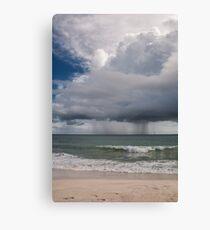 Rain Storm Over The Atlantic Ocean Canvas Print