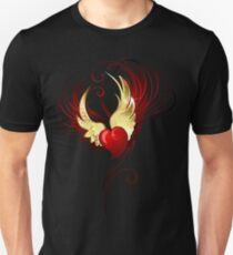 Heart with foil wings Unisex T-Shirt
