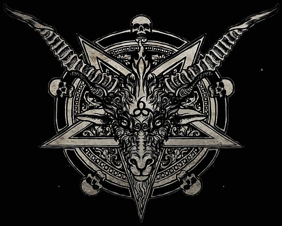 666 baphomet posters by shayneofthedead redbubble