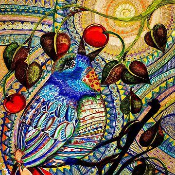 Blue Bird Zen: digital version by almalee