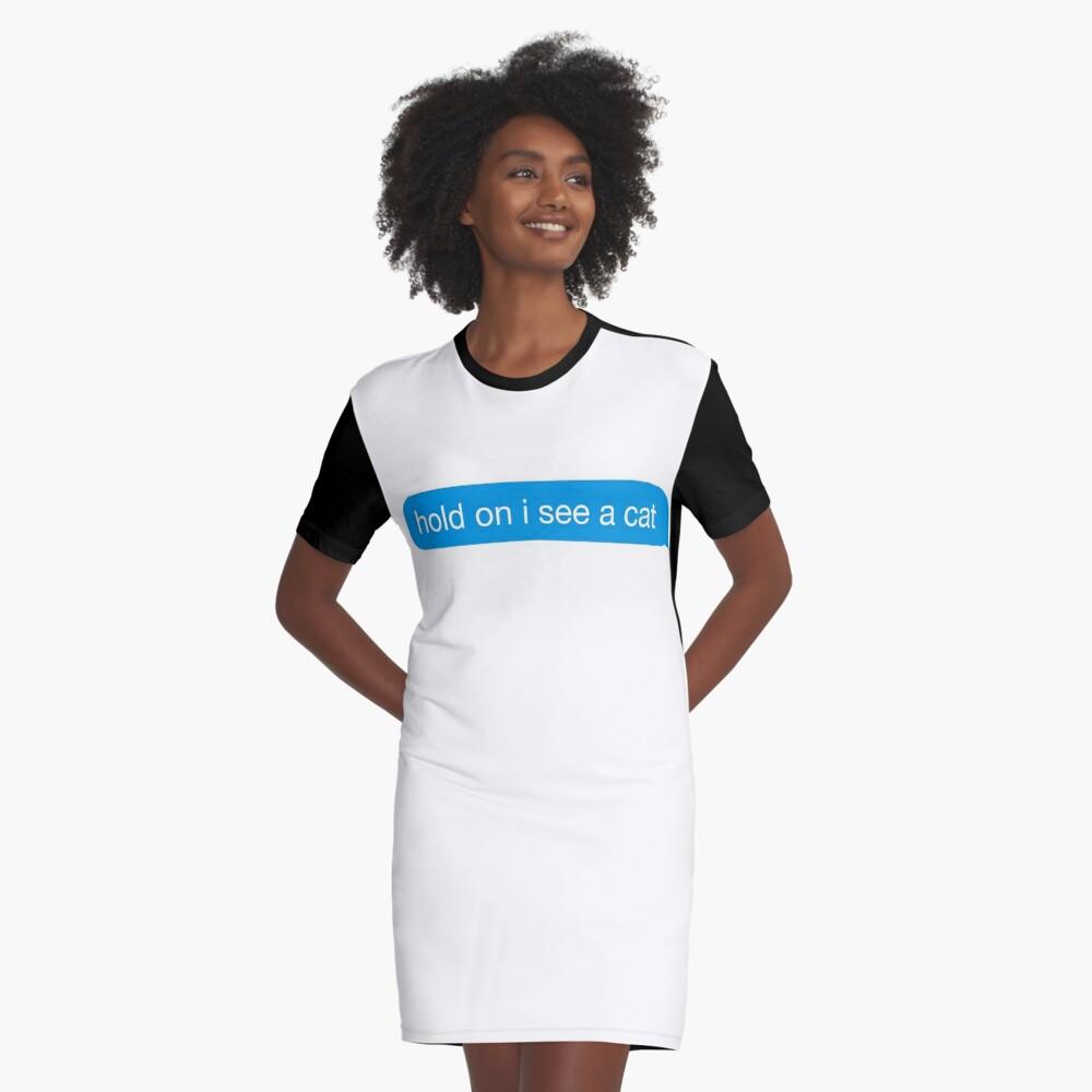 divertido agarre veo un gato mensaje de texto etiqueta de iMessage Vestido camiseta