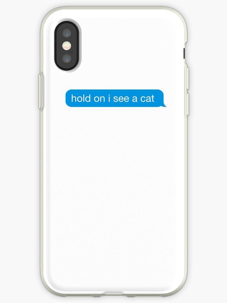 «divertido agarre veo un gato mensaje de texto etiqueta de iMessage» de IntrepiShirts