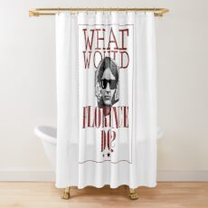 What Would Florence Do? Funny Florence Nightingale Shower Curtain