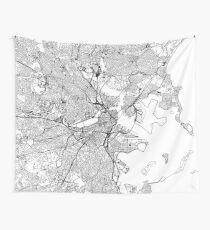 Boston Weiße Karte Wandbehang