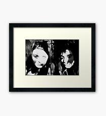 SHADOW GIRLS Framed Print