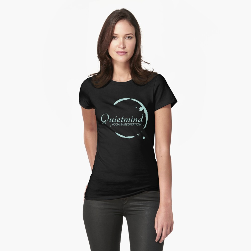 Quietmind Yoga & Meditation Womens T-Shirt Front