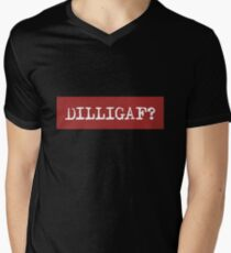 Funny Acronym DILLIGAF - Do I Look Like I Give a F*** Men's V-Neck T-Shirt