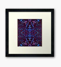 Neon Kaleidoscope  Framed Print