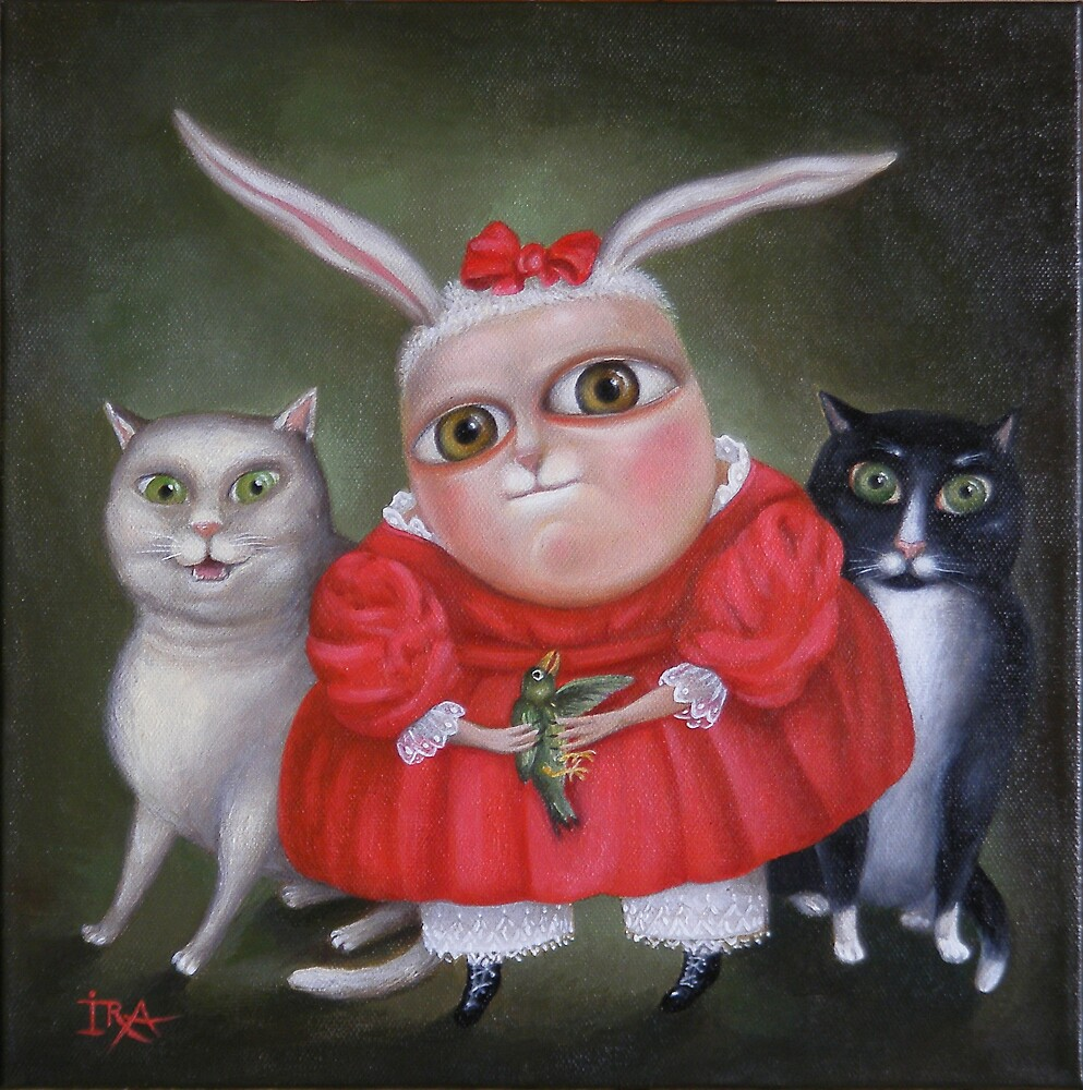 "Family Portrait  12"" x 12"" x 1""  Original Painting - Sold by Irena Aizen"