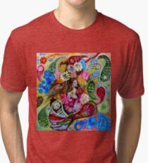 A Paisley Mermaid Tri-blend T-Shirt