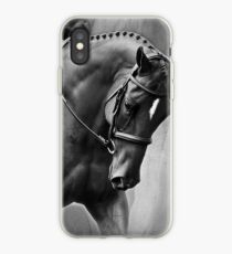 Elegance Dressage Horse in Black and White  iPhone Case