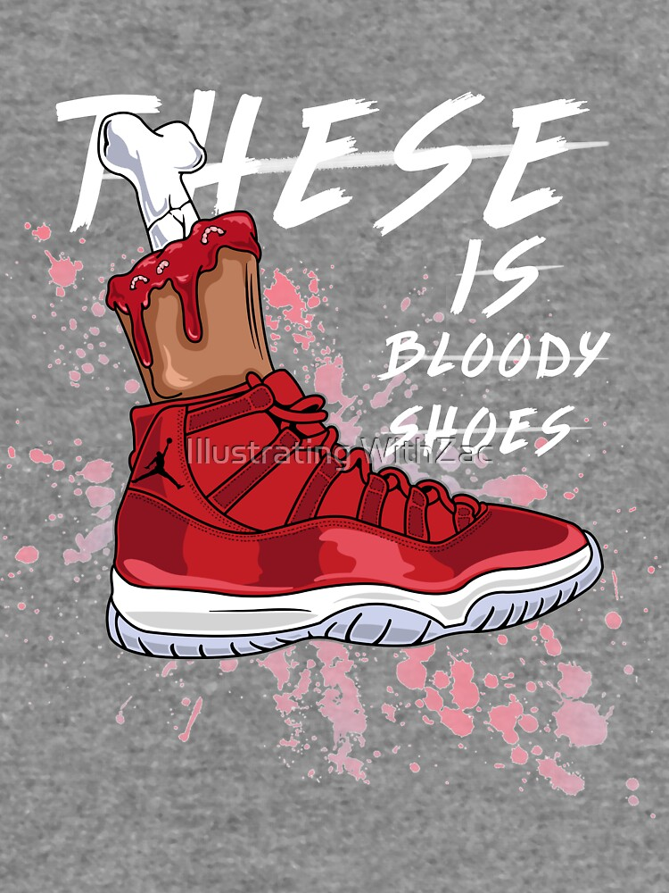 c288abd76efe These Is Bloody Shoes (Red)