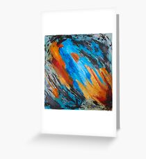 """""""Blast"""" Abstract Painting Greeting Card"""