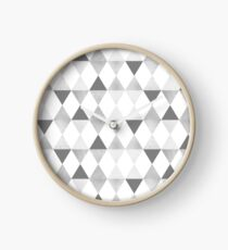 GRAPHIC PATTERN Funky geometric triangles   lightgrey & silver Uhr