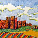 238 - BAMBURGH CASTLE - DAVE EDWARDS - COLOURED PENCILS - 2008 by BLYTHART