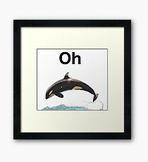 Oh Whale Framed Print