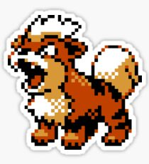 Pokemon retro sprite growlithe Sticker