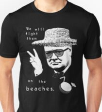 Winston Churchill - On The Beaches Unisex T-Shirt