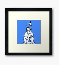 Bored Yeti and Penguins MKII Framed Print