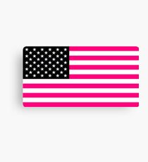 pink american flag Canvas Print