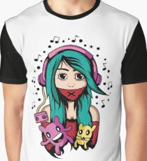 Girl with headphone Graphic T-Shirt