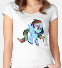 Retro Pony  Women's Fitted Scoop T-Shirt