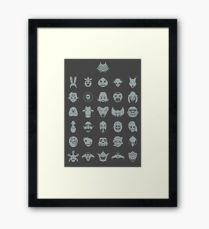 Mask Collection Framed Print