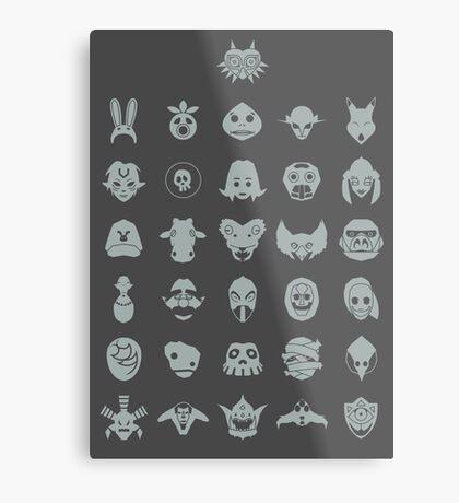 Mask Collection Metal Print