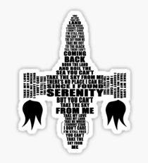 Firefly song spaceship black version Sticker