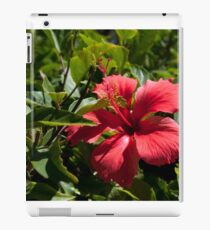 Hawaiian red flower iPad Case/Skin