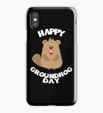 Happy Ground Hog T-shirt iPhone Case/Skin