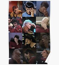 Star Trek Face Palms Poster