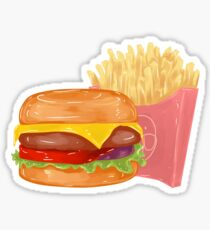 Cheeseburger and Fries Sticker