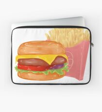 Cheeseburger and Fries Laptop Sleeve