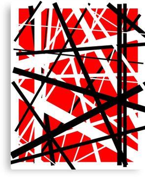 Frankenstein Pattern (Red) Canvas Print