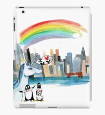 Unicorn and Penguins go to NYC iPad Case/Skin