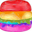 Large Rainbow Burger by aidadaism