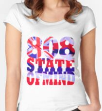 808 State of Mind Hawaii aloha Women's Fitted Scoop T-Shirt