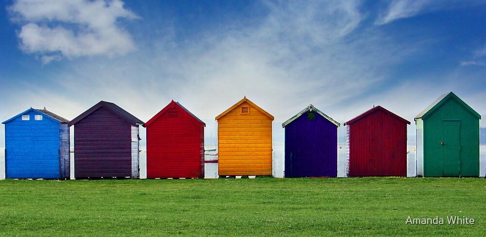 Beach Hut Series 19 by Amanda White